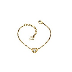 Guess - Gold plated bracelet with a small heart pendant