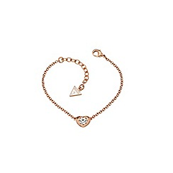Guess - Rose gold plated bracelet with a small heart pendant