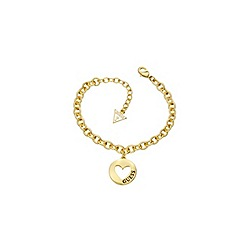 Guess - Gold plated heart coin bracelet