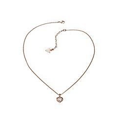 Guess - Rose gold plated mini heart pendant necklace