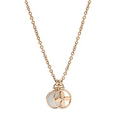 Fossil - Fossil signature print rose-tone necklace