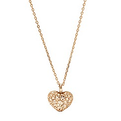 Fossil - Fossil rose gold-tone heart necklace