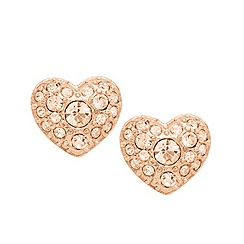 Fossil - Fossil rose gold-tone heart studs