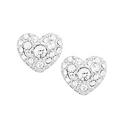 Fossil - Fossil silver-tone heart studs
