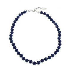 Finesse - Royal blue faux pearl necklace