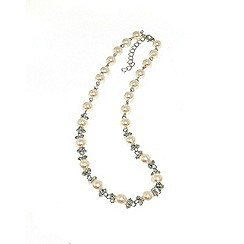 Finesse - White pastel pearl & cubic zirconia necklace