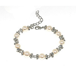 Finesse - White pastel pearl & cubic zirconia bracelet