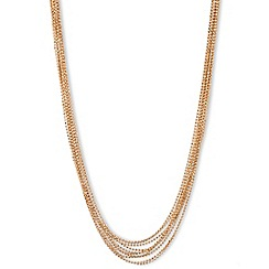 Anne Klein - 16' gold plated layered necklace
