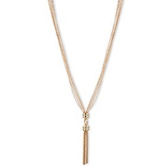 Anne Klein - 16' gold plated tassel y necklace