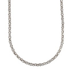 Anne Klein - 42' silver plated with crystal tubular strandage