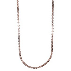 Anne Klein - 42' rose gold plated with crystal tubular strandage