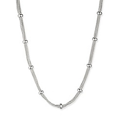 Anne Klein - 16' silver plated multi-layered chain necklace