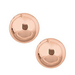 Anne Klein - 8mm rose gold plated ball stud earring