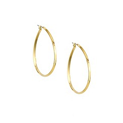 Anne Klein - Gold plated large pear shaped hoop