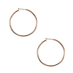 Anne Klein - Rose gold plated thin hoop