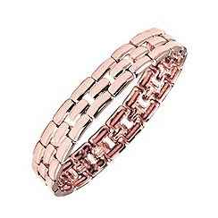 Anne Klein - Rose gold plated stretch lattice pattern bracelet