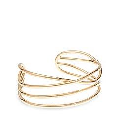 Pilgrim - Gold plated wrap cuff bracelet