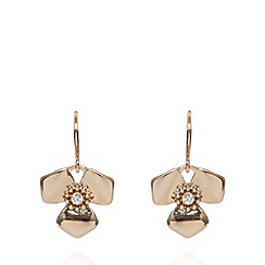 Pilgrim - Rose gold plated petal drop earrings