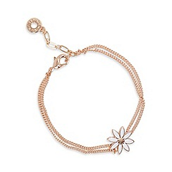 Pilgrim - Rose gold plated daisy flower chain bracelet