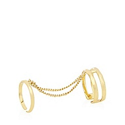 Pilgrim - Gold plated double chain rings