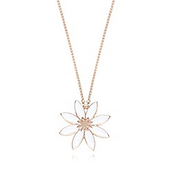 Pilgrim - Rose gold plated daisy flower necklace