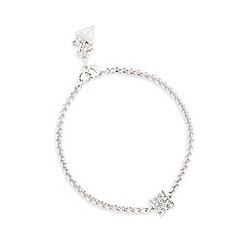 Guess - Silver barrel style charm bracelet