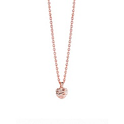 Guess - Rose gold plated necklace with heart shaped pendant