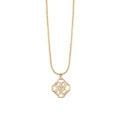 Guess - Gold plated chain necklace with iconic quattro logo Pendant
