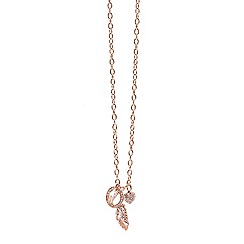 Guess - Rose gold plated necklace with multiple charms attached