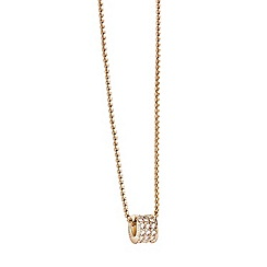 Guess - Gold  plated pave bead necklace