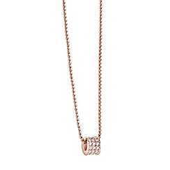 Guess - Rose gold plated pave bead necklace