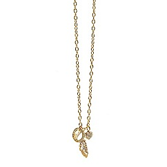 Guess - Gold plated necklace with multiple charms attached