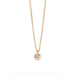 Guess - Gold plated necklace with a 3-D heart shaped pendant