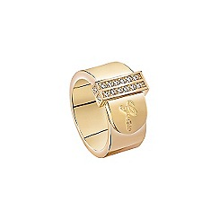 Guess - Gold  plated ring resembling a belt