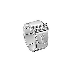 Guess - Rhodium plated belt ring