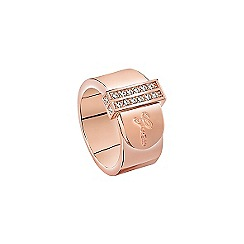 Guess - Rose gold plated ring resembling a belt