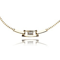 Anne Klein - Gold plated link short necklace