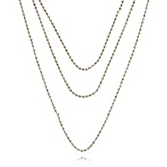 Anne Klein - Gold plated multi strand long necklace