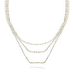 Anne Klein - Gold plated multi strand short necklace