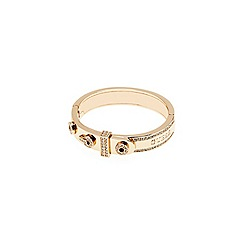 Guess - Gold plated bangle with features resembling a belt buckle