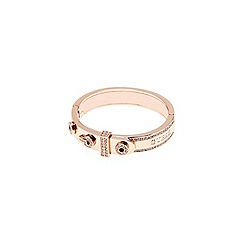 Guess - Rose gold plated bangle with features resembling a belt buckle