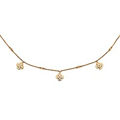 Finesse - Rose gold clover leaf charm Swarovski crystal necklace