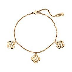 Finesse - Rose gold clover leaf charm Swarovski crystal bracelet