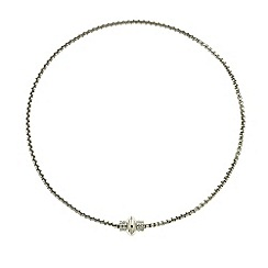 Finesse - Rhodium chain link necklace Swarovski crystal clasp