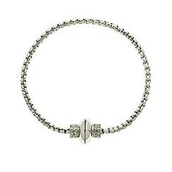 Finesse - Rhodium chain link bracelet Swarovski crystal clasp