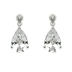 Finesse - Silver cubic zirconia teardrop earrings
