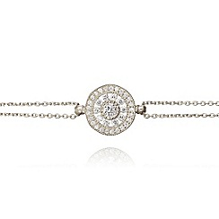 Ingenious - Sterling silver bracelet with antique circle charm