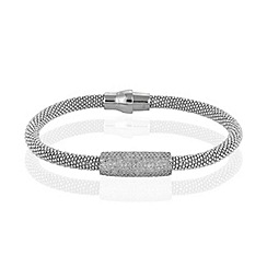 Ingenious - Sterling silver magnetic beaded bracelet