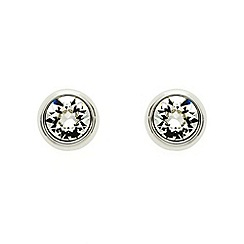 Finesse - Rhodium rubover Swarovski crystal stud earrings
