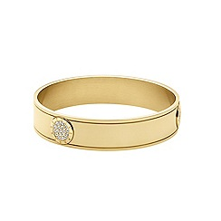 Dyrberg Kern - Gold plated bangle with Swarovski elements